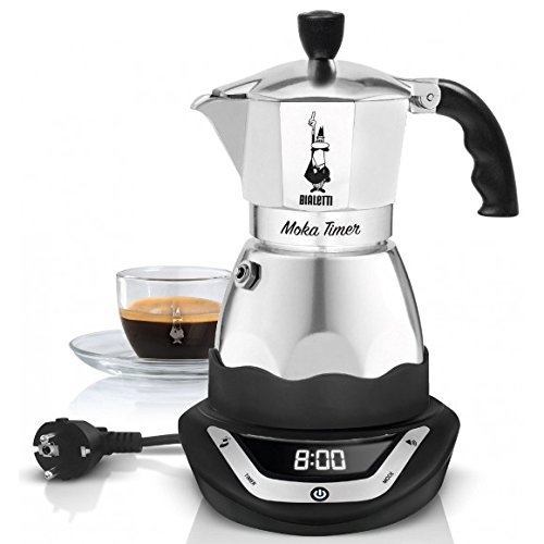 Bialetti 0006093 Easy Timer Electric Coffee Maker For 6 Cups Stainless Steel In Blackgrey Top Rated Coffee Machines